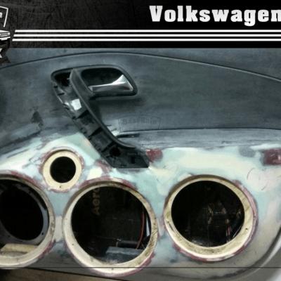 VW Polo - громкий фронт